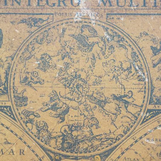アンティーク 額 地図