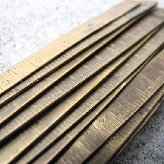 アンティーク 定規 真鍮
