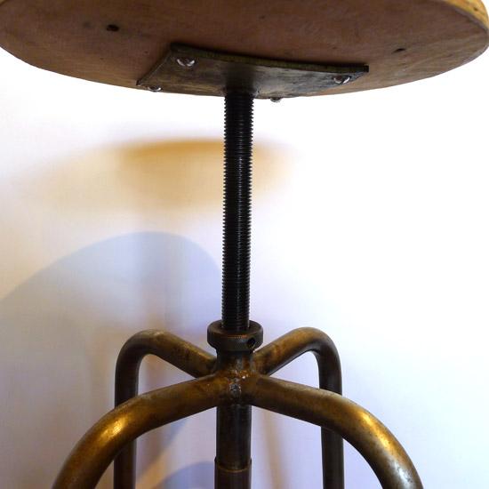 アンティーク 丸椅子