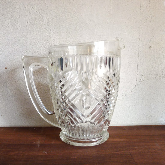 アンティーク ガラス ピッチャー