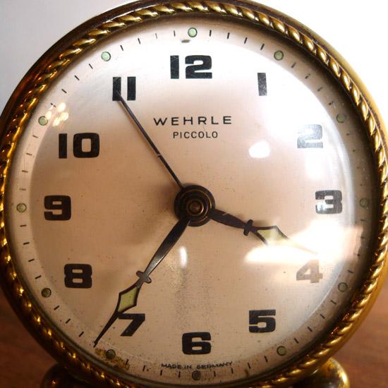 アンティーク 目覚まし時計 ドイツ Wehrle社
