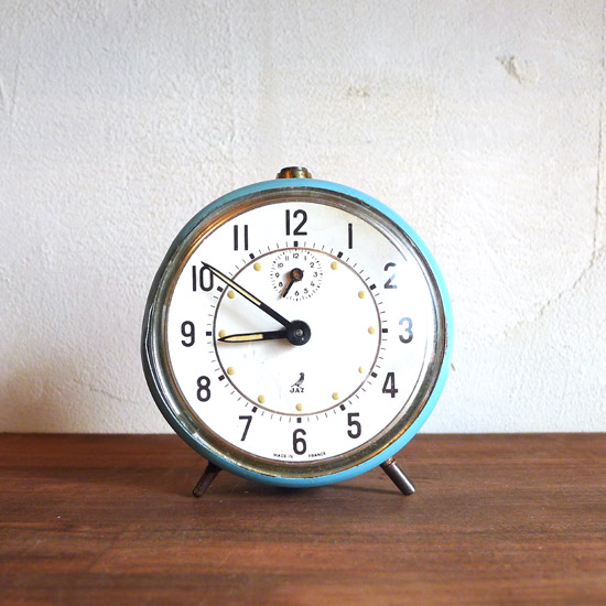 アンティーク 目覚まし時計 フランス JAZ社 中期モデル