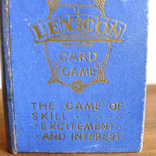 アンティーク カードゲーム Lexicon