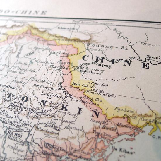 洋書 古書 地図 フランス Atlas de Geographie Generale