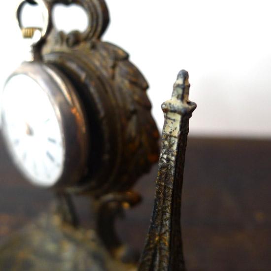 アンティーク 懐中時計 エッフェル塔