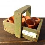 アンティーク ガーデンポット&木箱セット