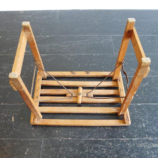 アンティーク 折りたたみウッドスツール