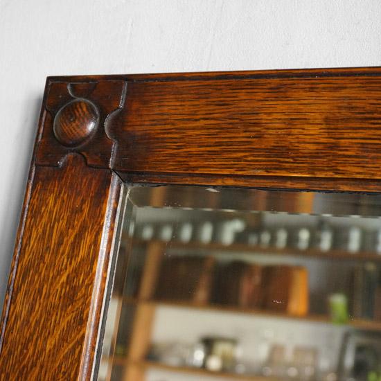 アンティーク ウッドミラー 鏡
