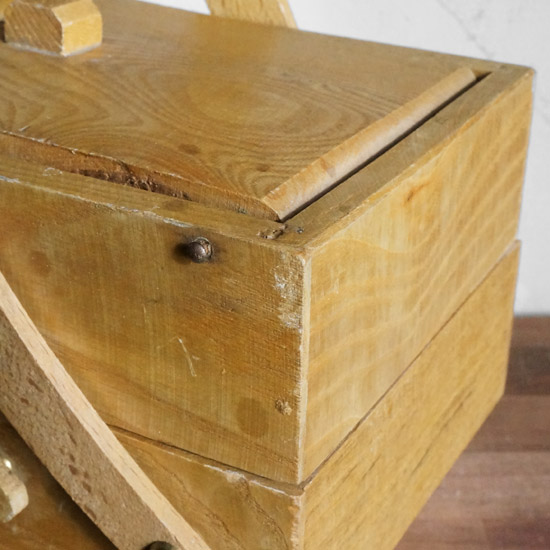 アンティーク ソーイングボックス 刺繍箱