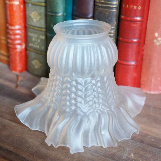 アンティーク ランプシェード ガラス