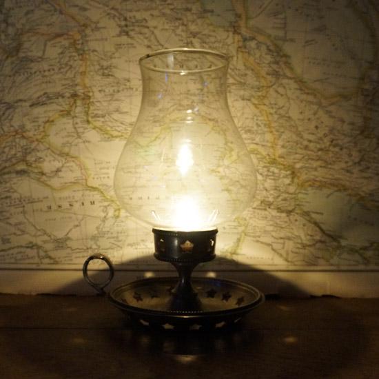 アンティーク ランプ キャンドルスタンド(uol1074-8)