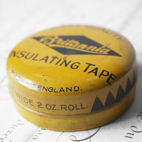 アンティーク TIN缶 絶縁テープ