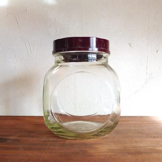 アンティーク ガラスジャー ガラスビン